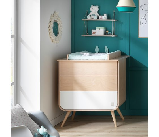 Commode Blanche GALOPIN Pieds Bois