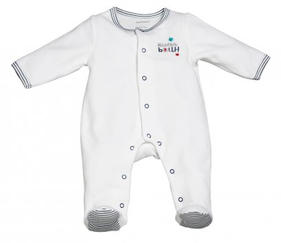 Pyjama velours blanc MISTER BOUH
