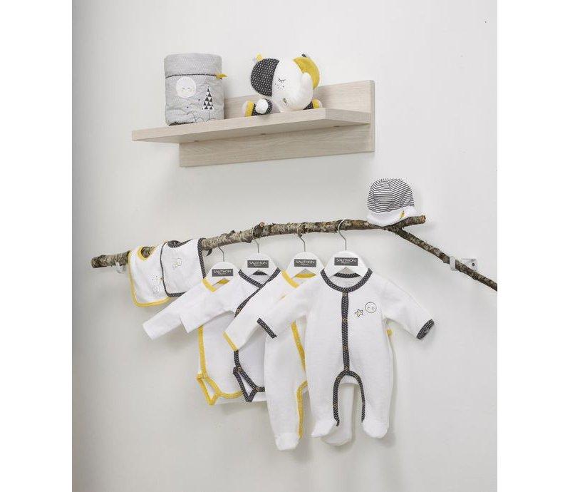 Pyjama b/éb/é blanc//jaune naissance Babyfan Sauthon