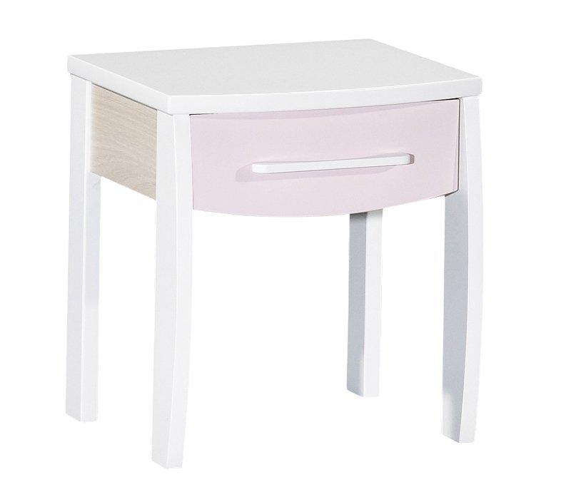 table de chevet milk rose. Black Bedroom Furniture Sets. Home Design Ideas