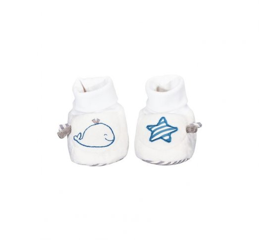 CHAUSSONS 0 6MOIS BLUE BALEINE