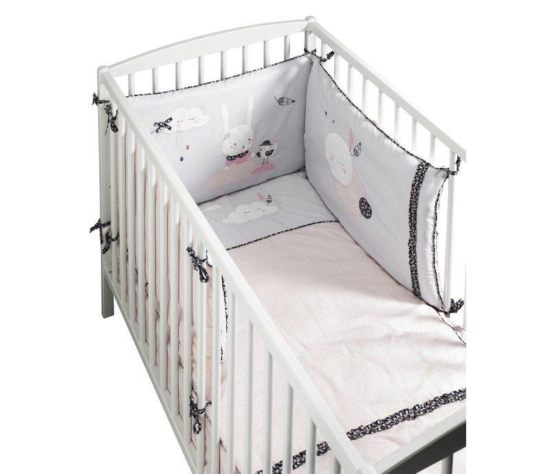 Tour de lit bébé fille Miss Fleur de lune aux teintes délicates - Sauthon